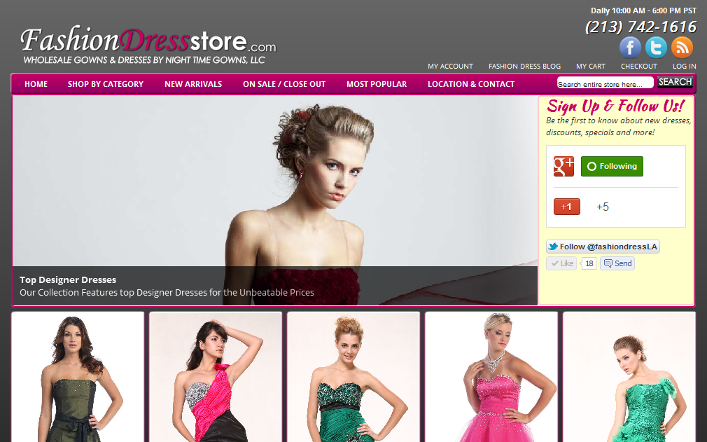 Web Design Weekly: Selling Dresses Online